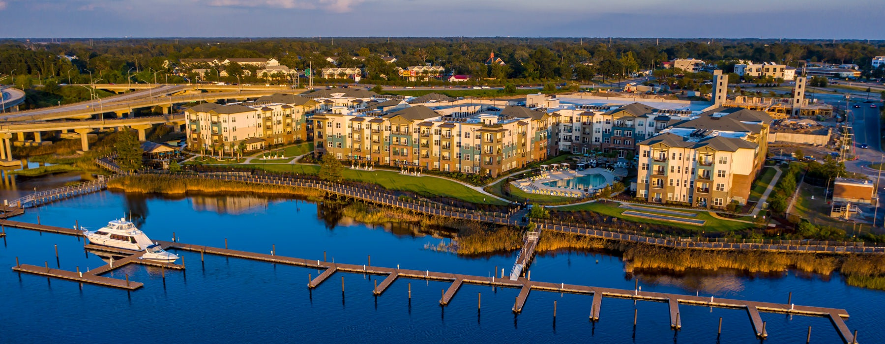 Marina on Cape Fear River located right next to Sawmill point complex